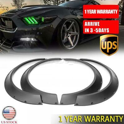 $ CDN68.93 • Buy 4Pcs Flexible Fender Flares 3.5'' Extra Wide Body Wheel Arches For Ford Mustang