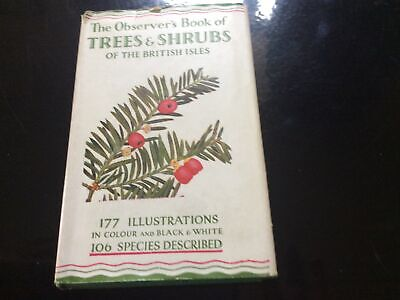 £8.99 • Buy The Observer's Book Of Trees & Shrubs Of British Isles (1953)