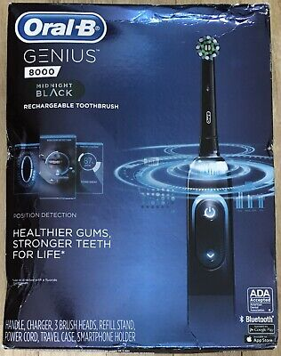 AU115.91 • Buy Oral-B Genius 8000 Rechargeable Electric Toothbrush - Midnight Black