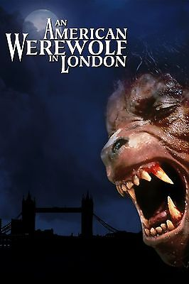 £16.99 • Buy An American Werewolf In London Superior Satin Canvas Poster Huge Size 20  X 30