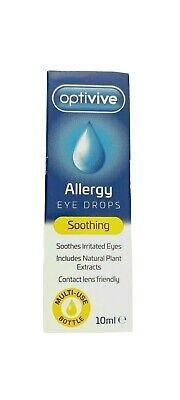 £3.50 • Buy Optivive Allergy Eye Drops Soothes Irritation Itchy Eyes Contact Lens Friendly