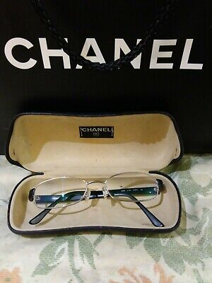 £65 • Buy Chanel Black & Silver Classic Frames  With Chanel Case