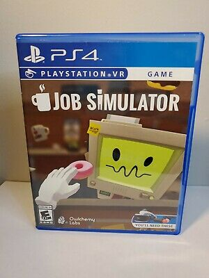 AU172.16 • Buy PS4 Playstation 4 VR PSVR - Job Simulator - Case & Game Disc - Tested