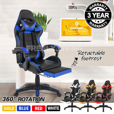 AU94.99 • Buy Gaming Chair Office Chair Computer Executive Chairs Seating Footrest Racer