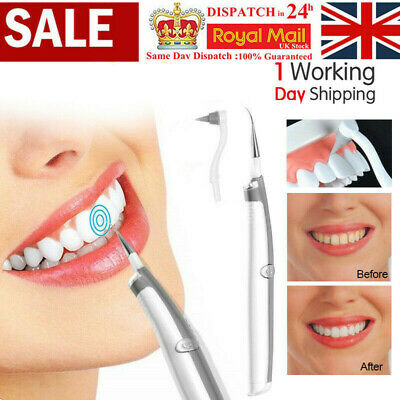 £4.69 • Buy Electric Sonic Dental Tooth Stain Polisher Teeth Whitener Plaque Eraser Remover