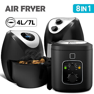 AU69.90 • Buy 4/6/7L 8in1 Air Fryer Kitchen Oven Airfryer Oil Free Low Fat Healthy Food Cooker