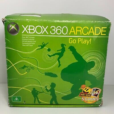 AU108.88 • Buy Original White Microsoft Xbox 360 Console + Box & Controller - Tested Working