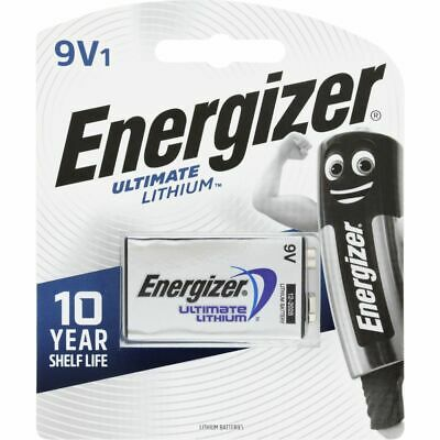 AU12.50 • Buy Energizer Ultimate Lithium 9V Battery 1 Pack Brand New And Sealed