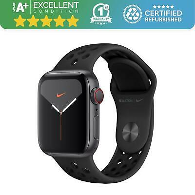 $ CDN494.46 • Buy Apple Watch Series 5 Nike 40mm | GPS - Cellular | Space Grey With Black Band