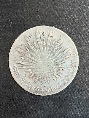 AU46.73 • Buy 1864 Mexico 8 Reales Mint Chopmarks Silver Coin