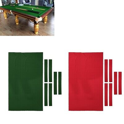 AU46.21 • Buy 9ft Pool Table Cloth Felt Replacement Fast Speed Cushion Cover Accessories