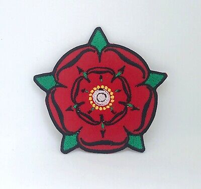 £2.49 • Buy Red Rose Yorkshire Iron On Sew On Embroidered Patch