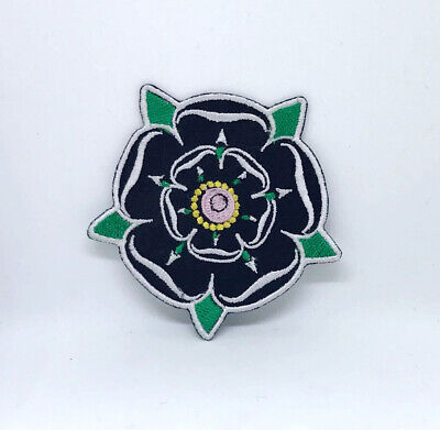 £2.49 • Buy Black Rose Yorkshire Iron On Sew On Embroidered Patch