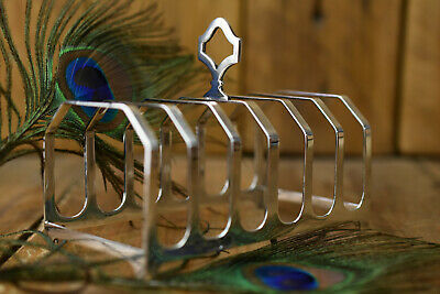 £149.99 • Buy Sterling Silver Art Deco 6 Slice Toast Rack Pearce And Sons London 1915 , Approx