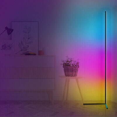 £40.19 • Buy RGB Modern Minimalist LED Corner Floor Lamp Color Changing Wall Lamp With Remote