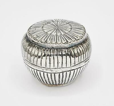 £65 • Buy Antique INDIAN SOLID SILVER PILL / TRINKET BOX C1890