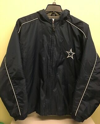 $34.99 • Buy Dallas Cowboys Coat Jacket Men's Large Puma Navy Hooded Fleece Lined Embroidered
