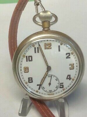WW2 BRITISH G.S.T.P. RECORD WATCH Co. Cal 433 POCKET WATCH Fully Serviced  GC • 96£