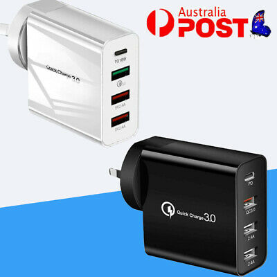 AU18.99 • Buy Multi USB Wall Plug Adapter Quick QC3.0 Fast Charging Charger PD Phone Station