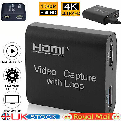 £11.39 • Buy 1080P 60fps HDMI Video Capture Card USB 2.0 Mic Game Record Live Streaming 4K HD
