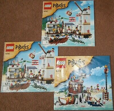 £24.99 • Buy Lego Pirates 6242 Soldiers Fort 6253 Shipwreck Hideout Manuals Instructions ONLY