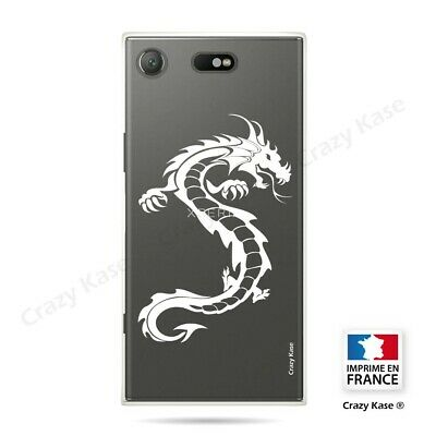AU14.15 • Buy Cover For Sony Xperia XZ1 Compact Flexible Dragon White
