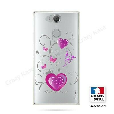 $ CDN16.94 • Buy Cover For Sony Xperia XA2 Flexible Pattern Heart And Butterfly
