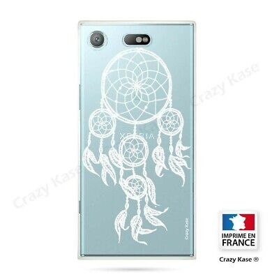 AU17.84 • Buy Cover For Sony Xperia XZ1 Compact Flexible Pattern Dreamcatcher White