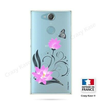 $ CDN16.94 • Buy Cover For Sony Xperia XA2 Flexible Pattern Flower Lotus And Butterfly