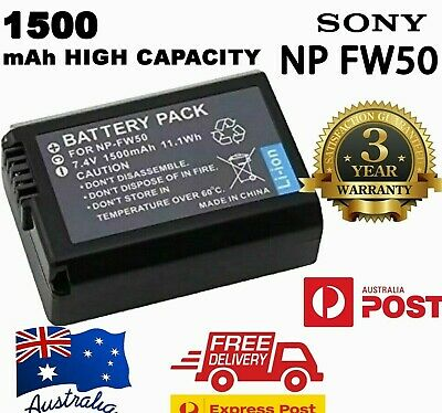 $ CDN12.64 • Buy NEW 1500mAh NP-FW50 Battery For Sony A6300 A6000 A5000 A7R, NEX-7 NEX-5T AU