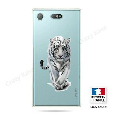 AU14.15 • Buy Cover For Sony Xperia XZ1 Compact Flexible Tiger White