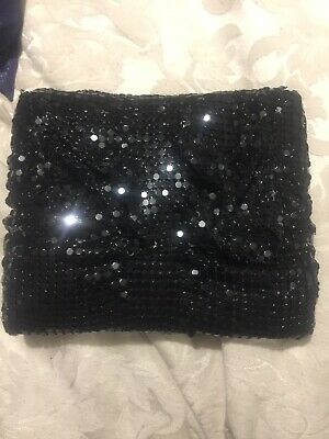AU5 • Buy Forever New Black Sequin Glo Mesh Bag Clutch Nwt