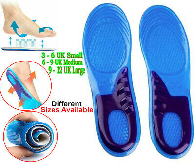 £5.37 • Buy CSL Work Boot Insoles Hiking Trainer Inner Soles, Foot Inserts Silicone Gel Size