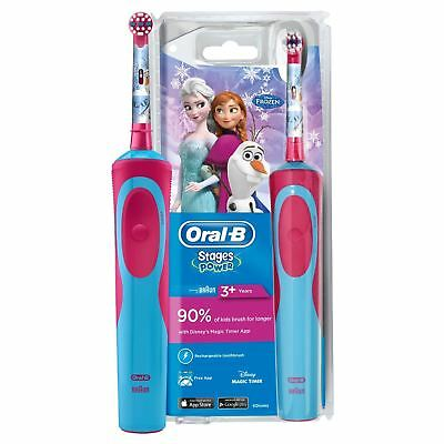 AU55.27 • Buy Braun Oral-B Stages Power Kids Electric Rechargeable Toothbrush Disney Frozen