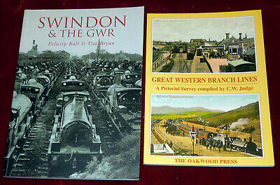 £12.95 • Buy Swindon And The G.w.r.- F. Ball & T.bryan + Great Western Branch Lines - C.judge