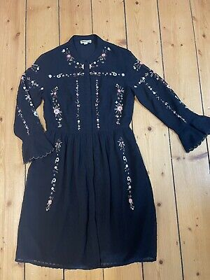 AU15 • Buy Whistles / ASOS / Festival Embroidered Dress Size 10