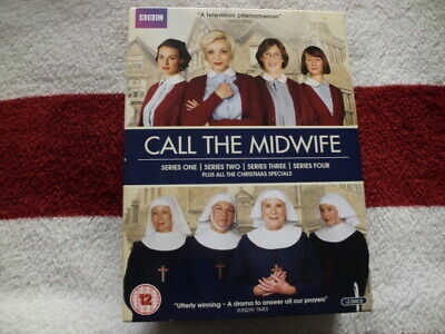 CALL THE MIDWIFE ~ COMPLETE SERIES 1,2,3,4 (BBC DVD 13 DISC BOX SET) 99p • 0.99£