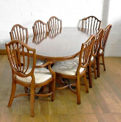 AU536.38 • Buy Antique Style Extending Dining Table And Set Of 8 Chairs