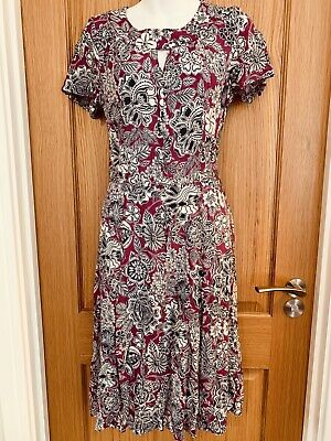 Brora Tea Dress, Purple Pattern, Size 12 • 20.99£