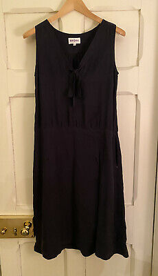 Brora Navy Knee Length Sleeveless A-line Dress Size UK 12 • 18£