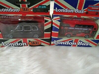 £8.99 • Buy RED LONDON BUS & BLACK TAXI.  Boxed Sealed  Toy Souvenir  Ornament  Gift New