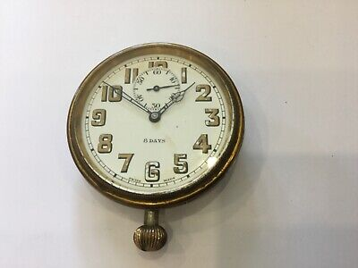 AU170.49 • Buy Antique 8 Day Travel Clock - D F & C. Swiss Made Movement