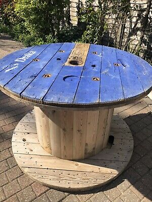 Pub Beer Garden Table Huge Large Wooden Cable Drum • 25£