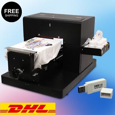 £1873.96 • Buy DTG Flatbed Multicolor Printer A4 T-Shirt Clothes Printing Machine White / Dark
