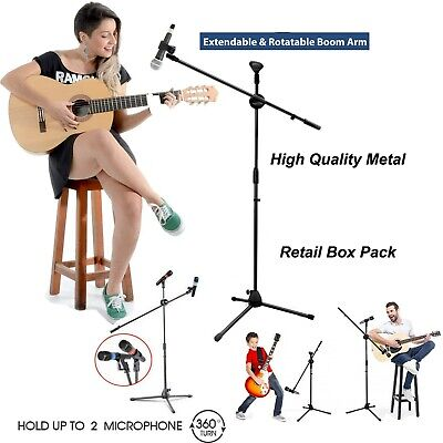 £10.48 • Buy Adjustable Microphone Stand Boom Arm Holder & Mic Clip Stage Studio Party Tripod