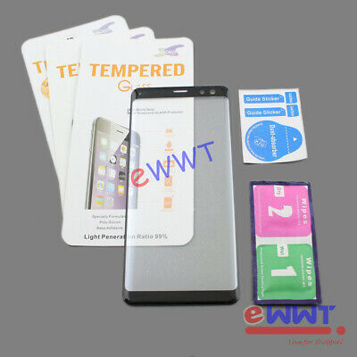 AU8.24 • Buy 3x For Sony Xperia XZ3 Dual H9493 Black 3D Curved Glass Screen Protector DQSQ778