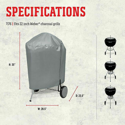 $ CDN19.17 • Buy Weber Charcoal BBQ Grill Safety Cover Kettle Style Water Resistant 22 Inch Gray