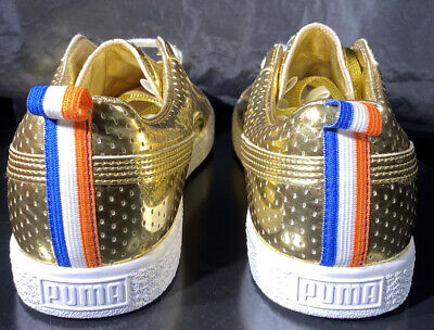 PUMA CLYDE X UNDFTD GAMETIME PROMO UNDEFEATED GOLD RED LOT WHITE BLUE Sz 10 • 26.65£