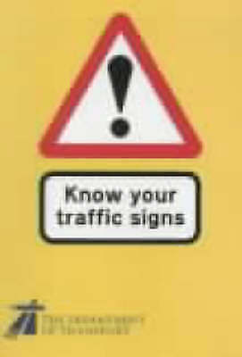 £2.20 • Buy Know Your Traffic Signs By Transport (Paperback, 1995)