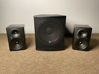 $1999 • Buy Two Mackie HR824 MK2 Monitors And One Mackie SRM1801 Subwoofer